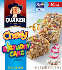 QUAKER CHEWY GRANOLA BARS Birthday Cake Granola Bars Insiders Special Offer That You Cant Miss Baking Desserts Recipes