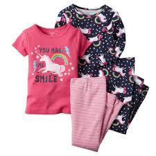 Amazon Com 4 Piece Baby by Amazon Com Carters Baby Girls 4 Piece Snug Fit Cotton Pjs Unicorn