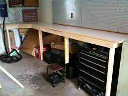 how to make garage workbench modern table design