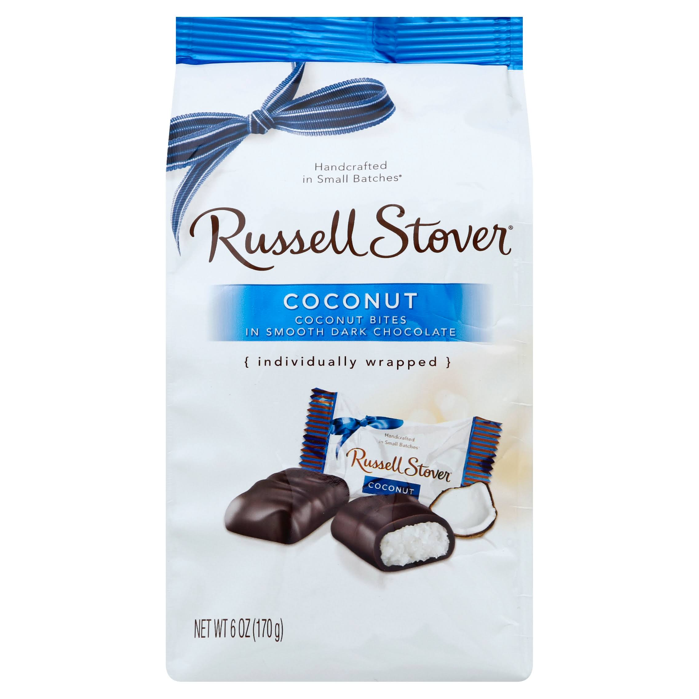 Russell Stover Dark Chocolate Coconut Mini Gusset Bag - 6oz