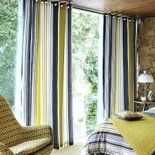 sophisticated yellow and gray window curtains muarju