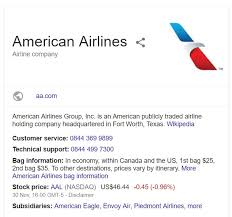 american airlines contact