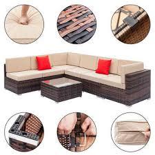 fch gartenmöbelset 7 teilige poly rattan sitzgarnitur gartenmöbel lounge möbel sitzgruppe garten kombinierbare