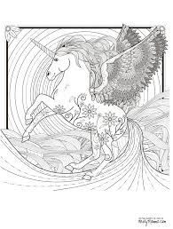 Printable Coloring Pages For Adults Unicorn