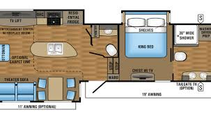 Fifth Wheel Bunkhouse Floor Plans by 5th Wheel Floor Plans 2017 Eagle Fifth Wheel Floorplans Prices