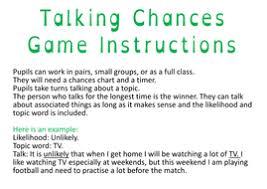 Probability Game Talking Chancespdf