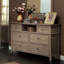Sauder Harbor View Dresser by Loxley Transitional Style Bleach Oak Finish Bedroom Dresser
