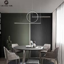 minimalistischen moderne anhänger licht führte hängende le schwarz gold farbe kronleuchter anhänger le für esszimmer küche decken glanz
