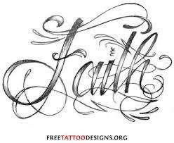 Free Faith Tattoo Design