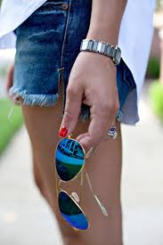 Girl Fashion Shorts Style Fashionable Stylish Blog Sunglasses Girly Aviators Preppy Prep Prepster