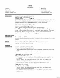 Child Care Resume Sample Inspirational Examples Social Worker
