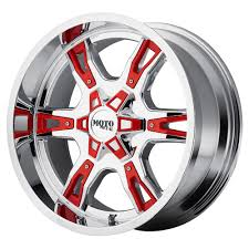 100 Black And Red Truck Rims MOTO METAL MO969 Rim 18X9 6x135 Offset 0 Chrome
