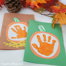 Pumpkin Books For Toddlers by Your Little Pumpkin U201d Handprint Card For Kids To Make