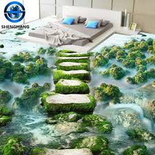 jungle picture 3d wall and floor tiles sale in dalian 3d