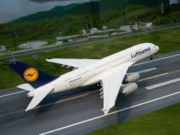 Airbus A380 800 Lufthansa model building model railway Hamburg