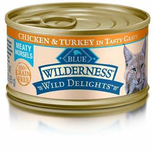 Blue Buffalo Wild Delights Cat Food - Chicken and Turkey Entree, Wet, 3oz