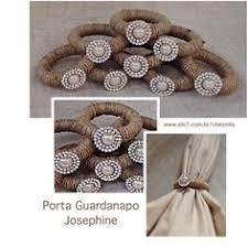 Porta Guardanapo Josephine Com Argola Em Fibra Natural Perola E Cristais De Strass Rustic ChicRustic Napkin RingsRustic