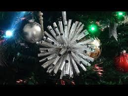 Aluminum Foil Christmas Tree Ornaments