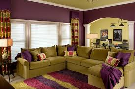chic purple living room ideas with chic furnitures and white
