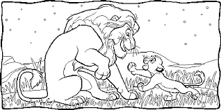 The Lion King Coloring Book Pages For Kids