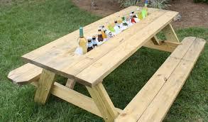 DIY Picnic Table Drink Trough