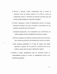 PROCEDIMIENTO PARA ATENDER QUERELLAS DE HOSTIGAMIENTO SEXUAL Y