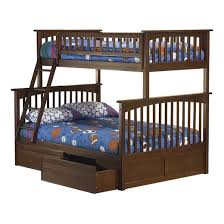 columbia twin over full bunk bed with under bed drawers antique
