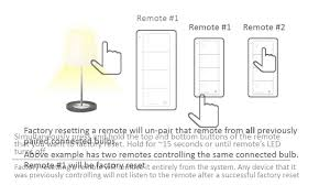 lutron how to series factory reset a connected bulb remote