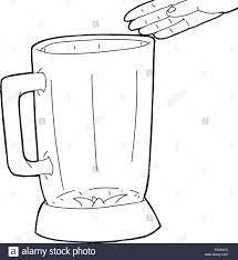 Hand Drawn Over Empty Blender Outline