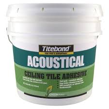 Home Depot Wall Tile Adhesive by Titebond 4 Gal Greenchoice Acoustical Ceiling Tile Adhesive 2704