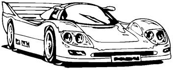 Racecar Coloring Page Race Car Tryonshorts Free Book