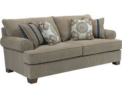 Broyhill Laramie Microfiber Sofa In Distressed Brown by Broyhill Cassandra Sofa Audrey Queen Sofa Sleeper In Stock Fast
