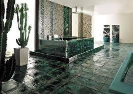 mosaik fliesen badezimmer keramik kakteen gruen badwanne