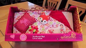opening review our generation american doll bed youtube