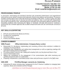 Office Administrator CV Example In CV Examples