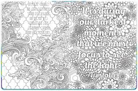 Crafty Inspirational Coloring Pages For Adults Quotes QuotesGram Free Printable