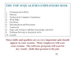 Top Skills To Put On Resume Work