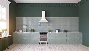grüne küchen kreative planungsbeispiele