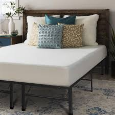 Crown fort 8 inch Full size Bed Frame and Memory Foam Mattress