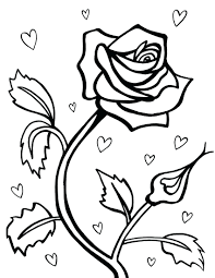 Free Printable Rose Coloring Pages For Adults Online Hearts Roses