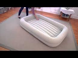 kidz travel bed set intex 66810 youtube