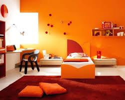 orange paint living room