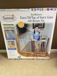 Find More Summer Infant Sure And Secure Extra Tall Top Of Stairs ... Baby Gate For Stairs With Banister Ipirations Best Gates How To Install On Stairway Railing Banisters Without Model Staircase Ideas Bottom Of House Exterior And Interior Keep A Diy Chris Loves Julia Baby Gates For Top Of Stairs With Banisters Carkajanscom Top Latest Door Stair Design Wooden Rs Floral The Retractable Gate Regalo 2642 Or Walls Cardinal Special Child Safety Walmartcom Designs