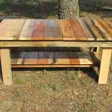 Natural Wood Rustic Coffee Table Side Living Room Furniture Solid