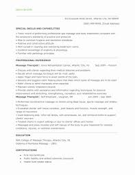 Massage Therapist Resume Cover Letter Awesome Therapy Letters Sample Of