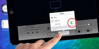 iOS 9 Using AirPlay to mirror an iPad display to the big screen
