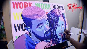 Rihanna Ft Drake Work Pop Art