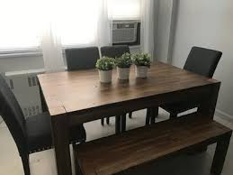 Walmart Dining Room Tables And Chairs by Better Homes And Gardens Bryant Dining Table Rustic Brown