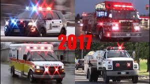 100 Fire Trucks Youtube Emergency Vehicles Responding 2017 Ambulances Police