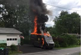 100 Ups Truck UPS Truck Explodes Into Flames While Making Deliveries In Pa
